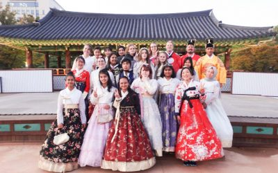 Hanbok dress-ups for Korean Study Tour group!