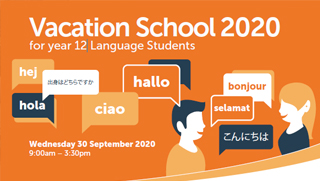 Vacation School 2020 for year 12 Language Students