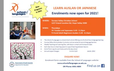 New AUSLAN and JAPANESE programs at Torrens Valley Christian School