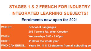 Stages 1 & 2 French for Industry/ Integrated Learning Subjects!